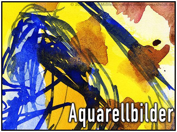 Leuchtende Aquarellfarben - Aquarelle malen