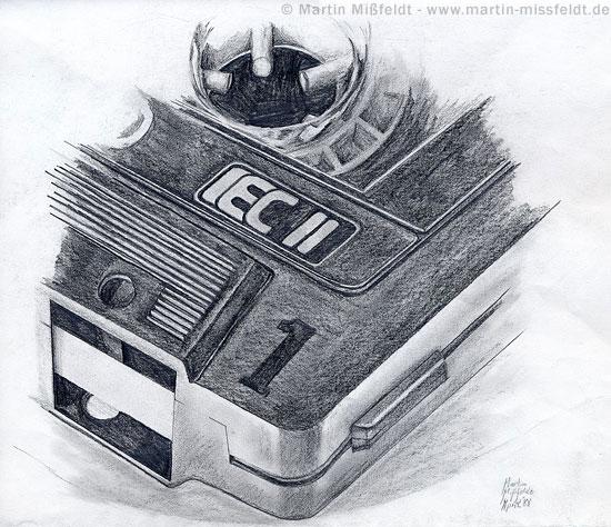 Realistische Bleistiftzeichnung von Mißfeldt