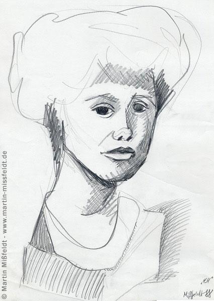 Schnelle Portrait-Skizze mit Bleistift